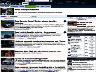 Auto titre.com : les titres de l'actualité automobile