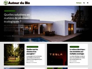 Aperçu du site Autour du Bio