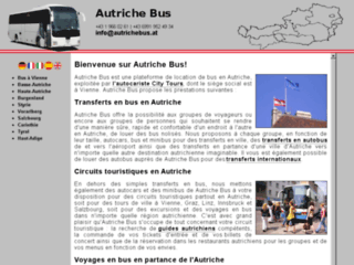 Capture du site http://www.autrichebus.at