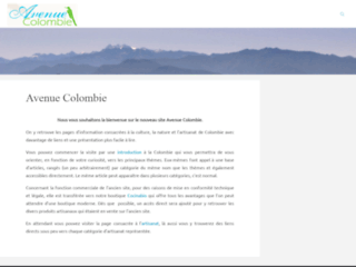 Artisanat et commerce �quitable de Colombie