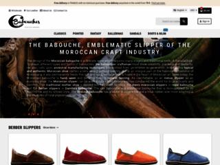 Aperçu du site Babouches Cuir