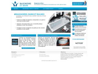 Capture du site http://www.baignoire-et-bain.fr/