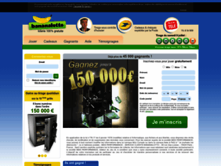 page accueil de la loterie