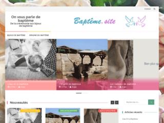 Détails : Le site spécialiste du baptême