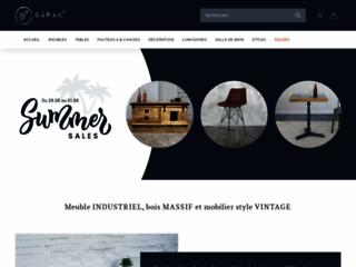 Les mobiliers avec design industriel