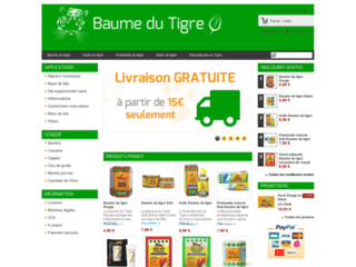Capture du site http://www.baumetigre.com
