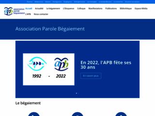 Association Parole Bégaiement sur http://www.begaiement.org