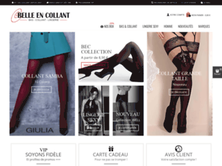 Aperçu du site Belle en collant