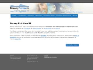 Capture du site http://www.berney-precision.ch