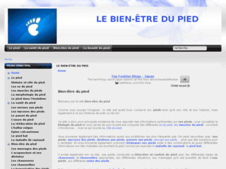 Capture du site http://www.bien-etre-du-pied.com