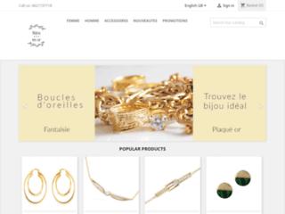 Détails : Site de vente en ligne de bijoux plaqués or