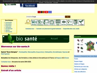 Portail informatif santé naturelle sur http://www.bio-sante.fr