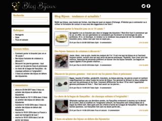 Aperçu du site Blog Bijoux