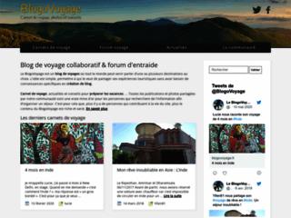 Aperçu du site BlogoVoyage