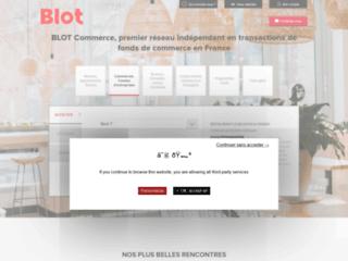 Aperçu du site Blot Commerce