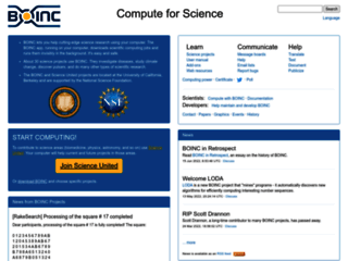 Boinc: elabora per la scienza, Unisciti al sistema informatico Grid a calcolo distribuito.