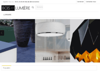 Bois et Lumi�re, vente en ligne de luminaires et meubles design