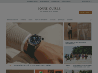 Capture du site http://www.bonnegueule.fr