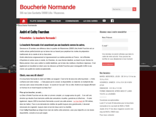 Capture du site http://www.boucherie-normande.com/