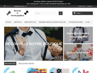 Boutique en ligne de bretelles et nœuds papillon. Homme-Femme-Enfant