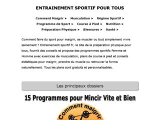 Conseils pour un mieux être sportif sur http://bruno.chauzi.free.fr