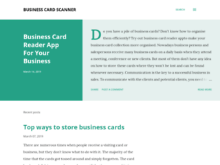Business Card Reader App For Your Business