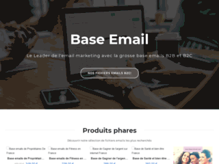 Achetez des bases de données emails qualifiées