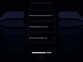 Capture du site http://www.businessmayotte.com