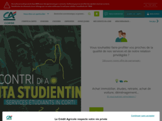 Pr�visualisation du site Cr�dit Agricole de la Corse