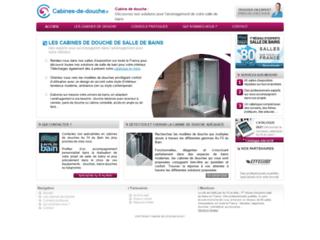 Capture du site http://www.cabines-de-douche.fr/