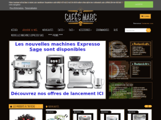 Capture du site http://www.cafes-marc.fr