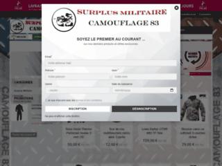 Détails : Camouflage 83 : vente d'articles militaires