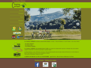 camping Tardets - camping Carrique - camping pays basque