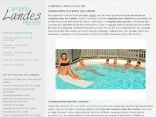Camping landes avec piscine