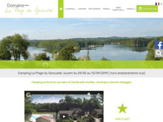 Camping le Garoustel dans le Cantal  en Auvergne Lac