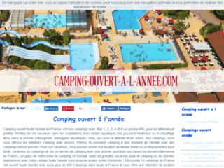 Camping ouvert à l'année