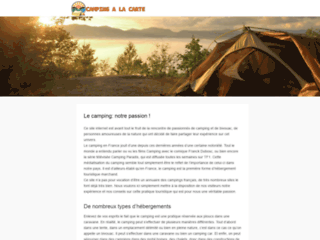 Campingalacarte.fr, location camping et mobil home