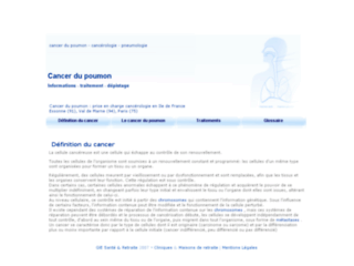 Cancer du poumon sur http://www.cancer-du-poumon.info