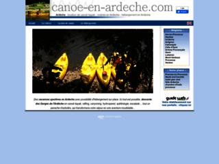 Canoe en Ardèche pour un week end sportif en Ardèche