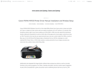 Few Steps for a Successful Canon Pixma Printer Setup – Canon.com/ijsetup
