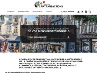 Aperçu du site Cap Transactions