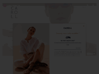 Détails : Caroll, marque de vêtement pour femme chic