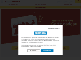 Carte-cadeau decathlon