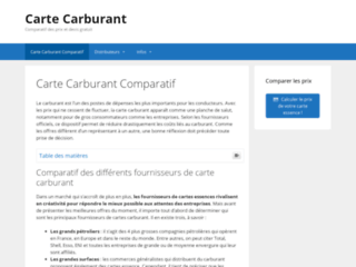 Carte Carburant, site informatif sur les cartes carburant