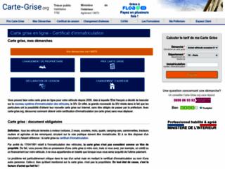 Carte grise (certificat d'immatriculation), coût, tarif, préfecture et démarche