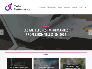 Détails : Carte Performance : guide d'achat high-tech