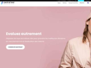Capture du site http://www.centraltest.fr