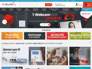 Capture du site http://www.cfpsecurite.com