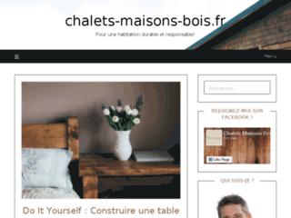 Site Internet Chalets Maisons Bois