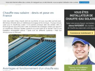 Devis d'installation de chauffe-eau solaire